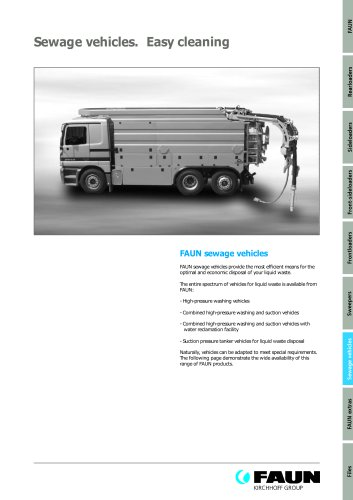 Sewage vehicules