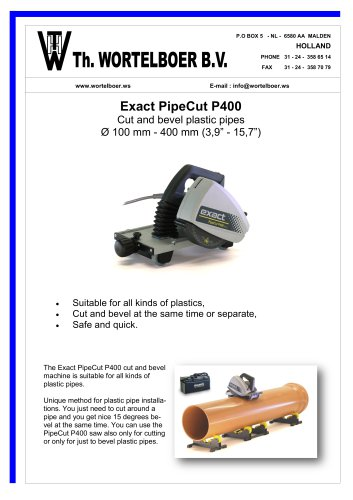 EXACT PIPECUT P400
