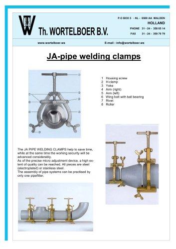 JA-pipe welding clamps