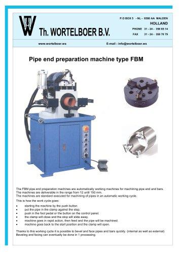 Pipe end preparation machine type FBM