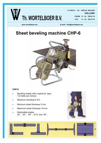 Sheet beveling machine CHP-6