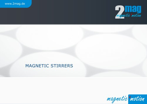 2mag Magnetic Stirrers 2019