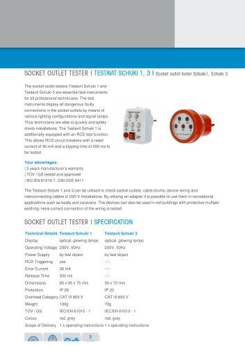 Socket outlet tester Schuki1, Schuki 3