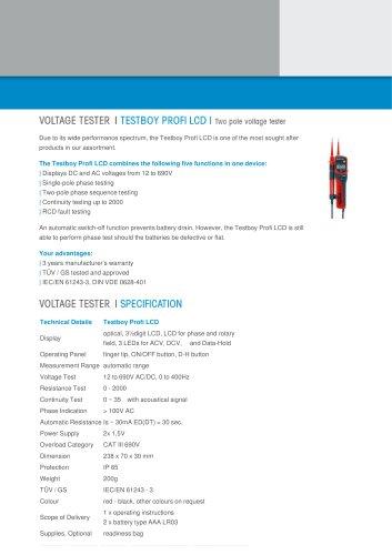 Testboy Profi LCD