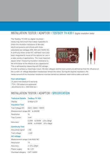 Testboy TV 430N