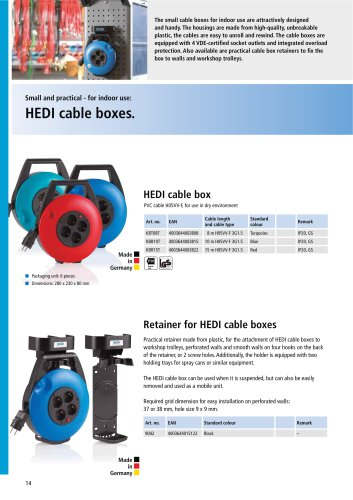 HEDI cable boxes.