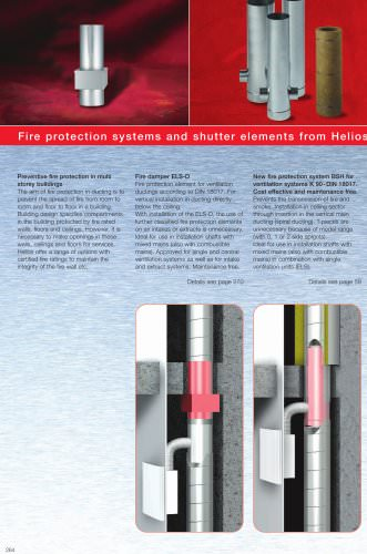 Fire protection systems and  shutter elements