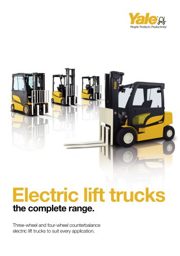 Electric Lift Trucks Brochure