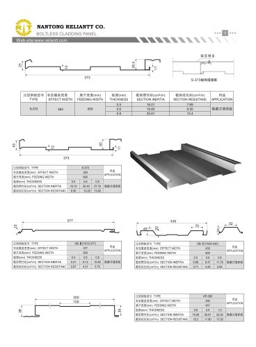 Boltless Cladding Panel Roll Former
