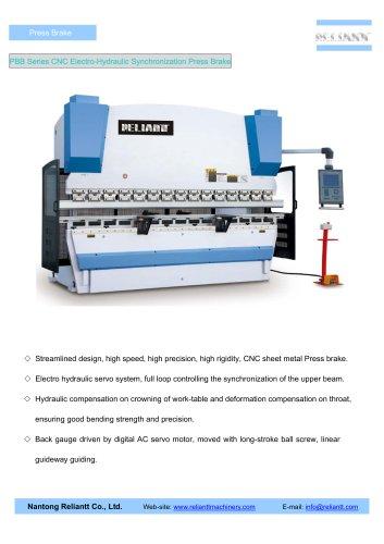 CNC Electro-Hydraulic Synchronization Press Brake (PBB)