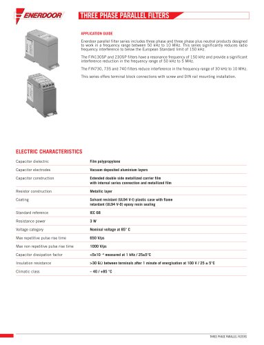 FIN130SP.001.M Three Phase Parallel Filter