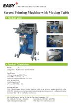 Screen Printing Machine with Moving Table