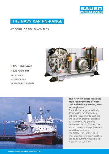 The NAVY KAP HN-Range ? At home on the seven seas
