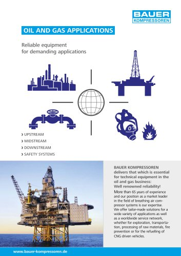 Oil and Gas ApplicationsOil and Gas Applications ? Reliable equipment for demanding applications
