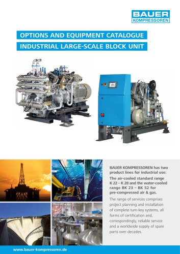 Options and Equipment Catalogue ? Industrial Large-Scale Block UnitOptions and Equipment Catalogue ? Industrial Large-Scale Block Unit