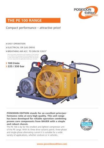 The Range PE 100 ? Compact performance ? Attractive price