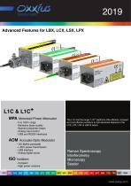 Advanced Features for LBX, LCX, LSX, LPX - 1