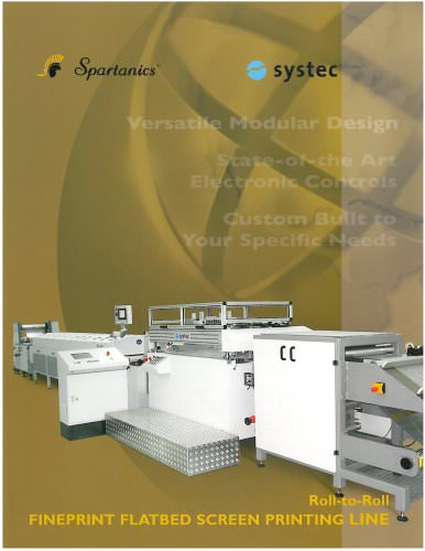 fineprint flatbed screen printing line