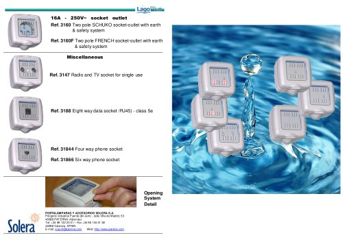 SOLERA LAGO Plus IP65 switches & sockets