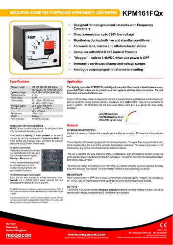 INSULATION GUARD FOR IT-NETWORKS W/FREQUENCY CONVERTERS KPM161FQx