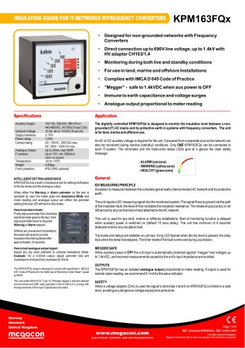 INSULATION GUARD FOR IT-NETWORKS W/FREQUENCY CONVERTERS KPM163FQx