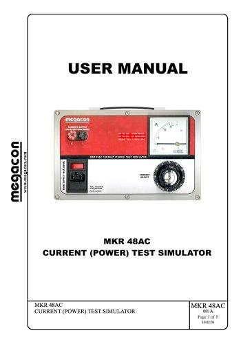 MKR 48AC CURRENT (POWER) TEST SIMULATOR