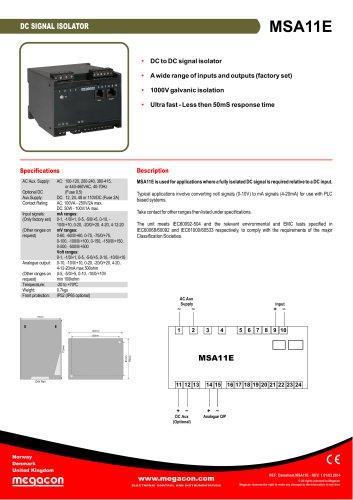 MSA11E Series