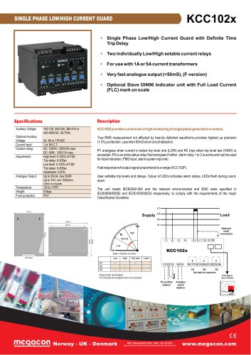 SINGLE PHASE LOW/HIGH CURRENT GUARD
