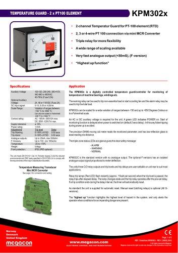 TEMPERATURE GUARD - 2 x PT100 ELEMENT KPM302x