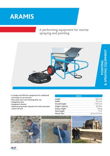 Aramis equipment for mortar spraying and pointing