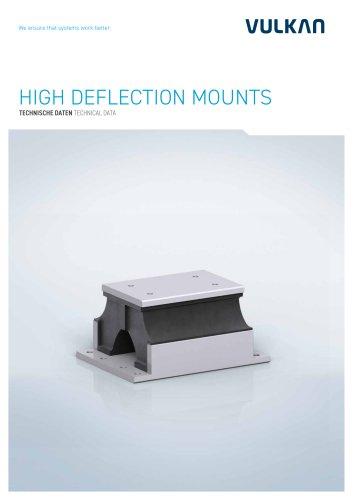 Technical data HIGH DEFLECTION MOUNTS