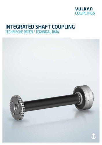 Technical data INTEGRATED SHAFT COUPLING