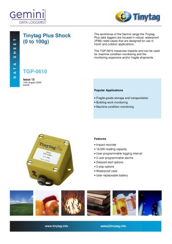 Shock logger TGP-0610