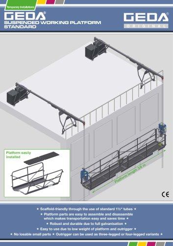 bauma-brochure GEDA Suspended Working Platform Standard