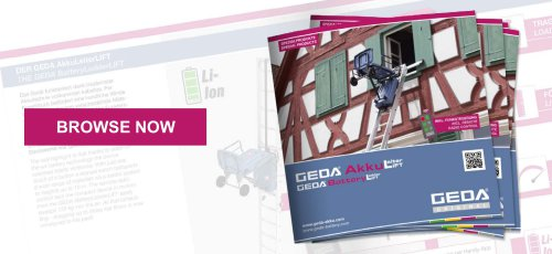 Brochure GEDA BatteryLadderLIFT