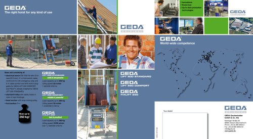 Brochure GEDA Lift