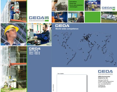 Brochure GEDA Mini/Maxi