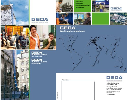 Brochure GEDA Rubbish Chute