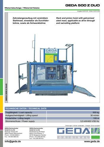 GEDA 500 Z DUO - GEDA-Dechentreiter GmbH & Co  KG - PDF Catalogs