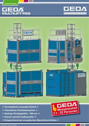 Prospekt GEDA Multilift P22