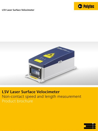Brochure LSV Laser Surface Velocimeter | Process measurement technology for speed and length