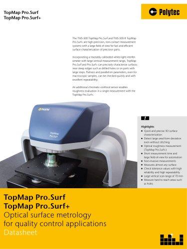Datasheet TopMap Pro.Surf | 3D surface topography