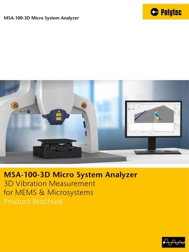 MSA-100-3D Micro System Analyzer