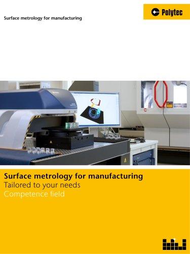 Surface metrology for manufacturing
