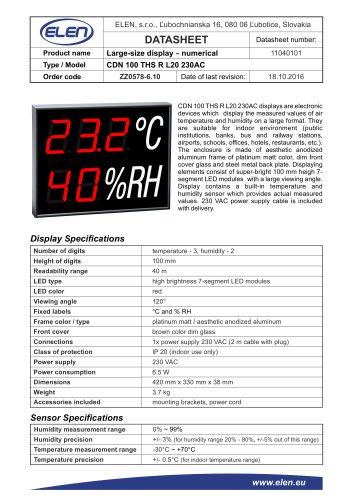 CDN 100 THS R L20 230AC