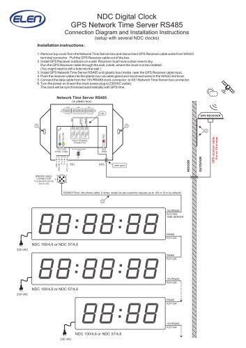 NDC Digital Clock GPS Network  T ime Server RS485