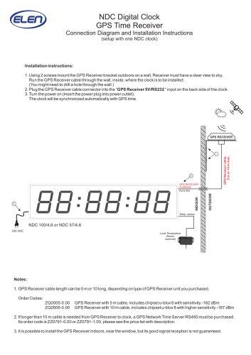 NDC Digital Clock GPS  T ime Receiver