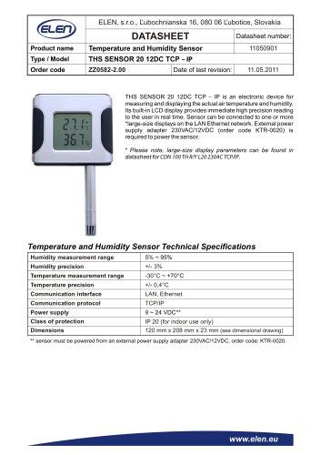 THS SENSOR 20 12DC TCP – IP
