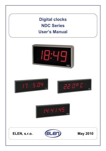 User manual - digital clocks NDC (PDF)