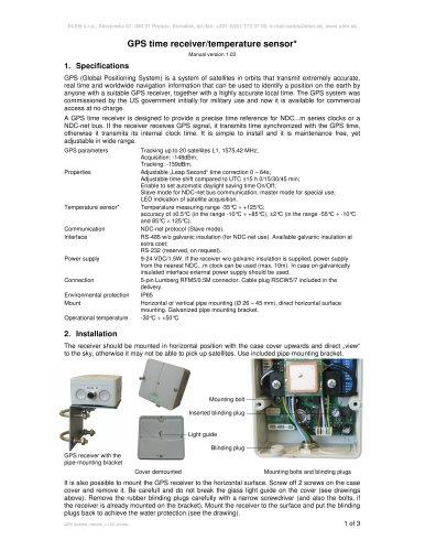 User manual of GPS reciever (PDF)